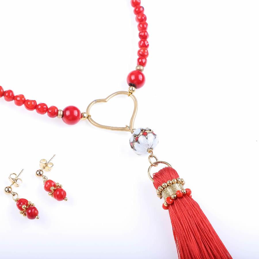 Corazón Coral joyeria artesanal mexicana